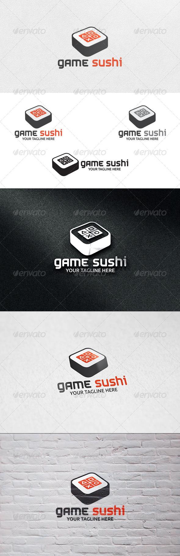 Game Sushi - Logo Template - Food Logo Templates