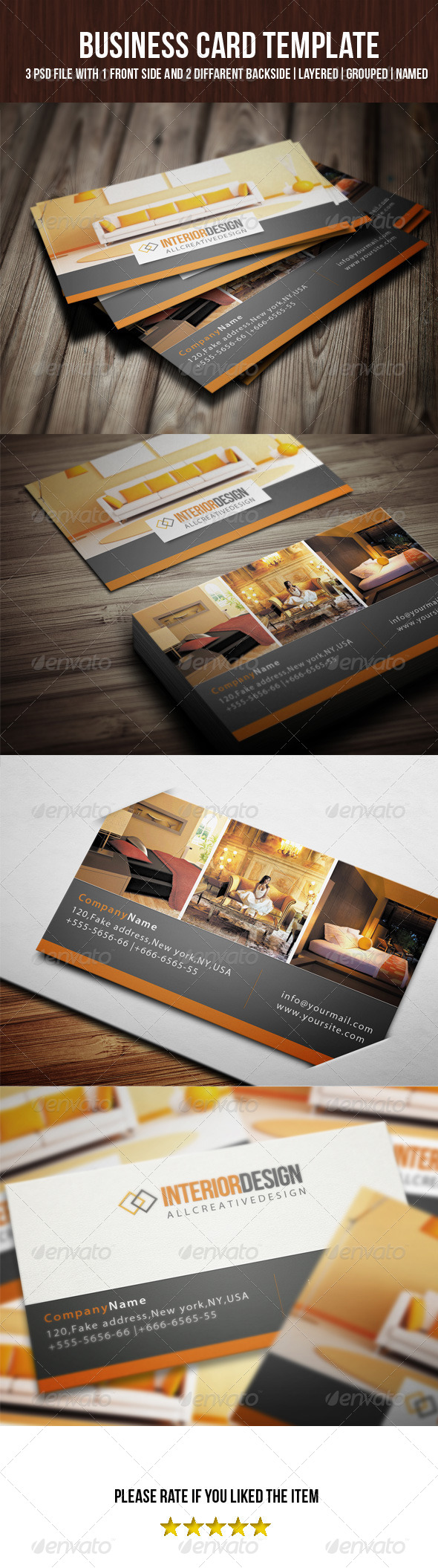 Interior Business Card - Corporate Business Cards