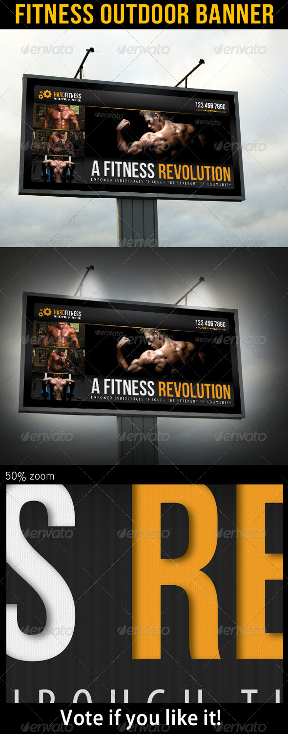 Fitness Outdoor Banner 11 - Signage Print Templates