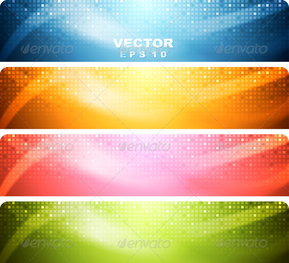 Abstract Shiny Banners - Backgrounds Decorative
