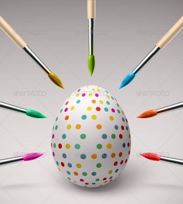 Coloring Easter Eggs - Miscellaneous Seasons/Holidays