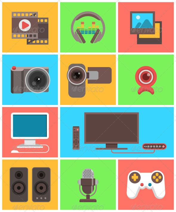 Multimedia Icons - Media Icons