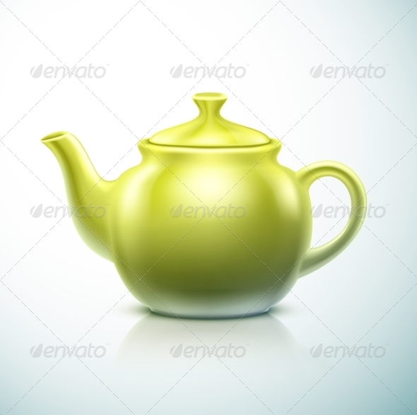 Isolated Teapot - Man-made Objects Objects