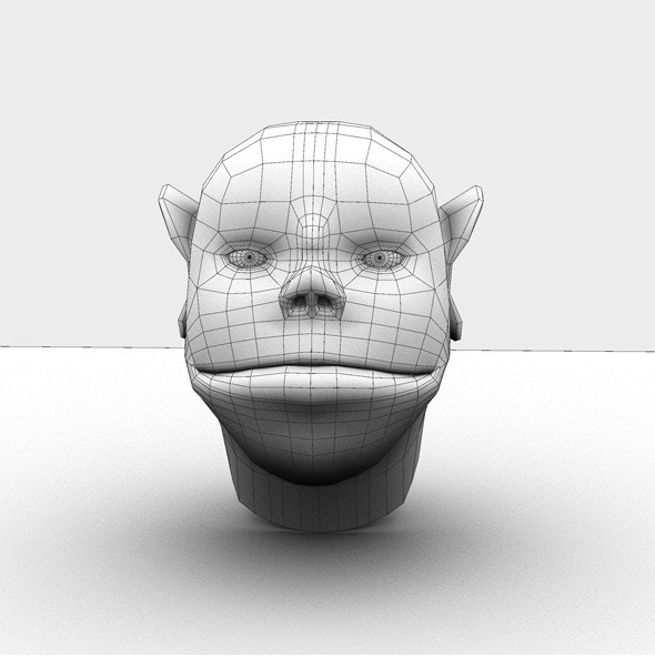 Base Mesh Cartoon Head - 3DOcean Item for Sale
