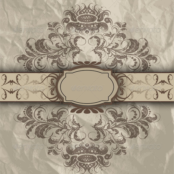 Pattern with Banner - Decorative Vectors