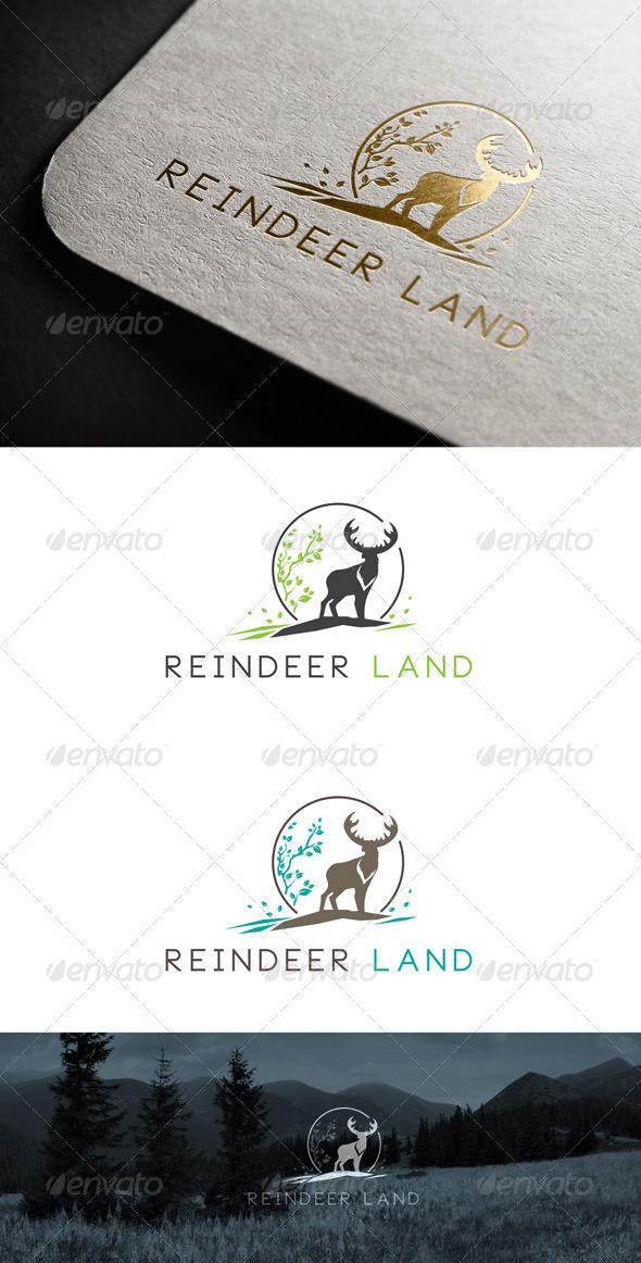 Reindeer Land Logo Templates - Animals Logo Templates
