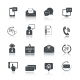 Contact Us Service Icons Set - GraphicRiver Item for Sale