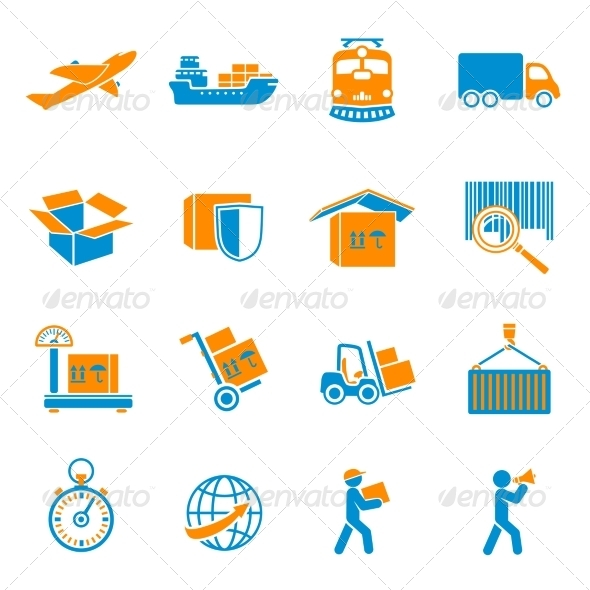 Shipping Delivery Icons Set - Web Technology