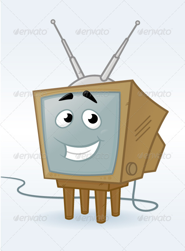 Happy TV - Objects Vectors
