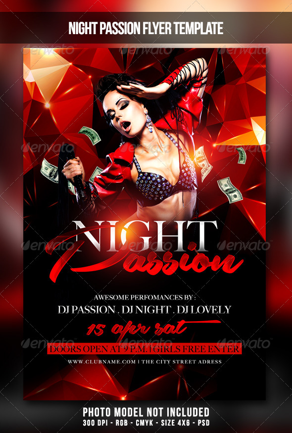 Night Passion Flyer - Clubs & Parties Events