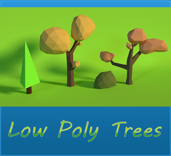 LowPoly Trees .Pack2 - 3DOcean Item for Sale