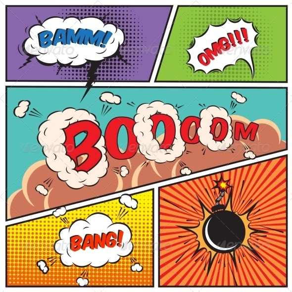 Comic Speech Bubbles - Borders Decorative