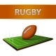 Football or Rugby Ball Emblem - GraphicRiver Item for Sale