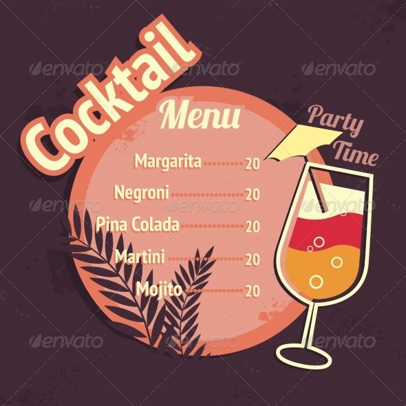 Cocktail Drinks - Borders Decorative