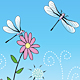 Dragonflies in Garden - GraphicRiver Item for Sale
