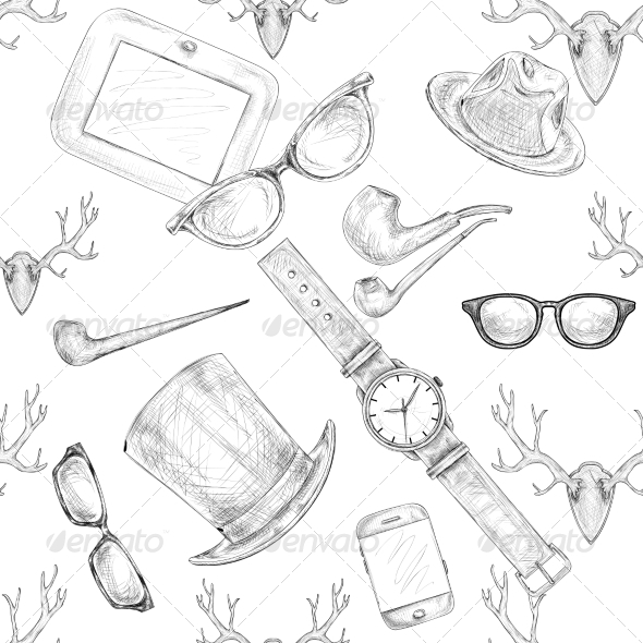Hipster Accessories  - Backgrounds Decorative