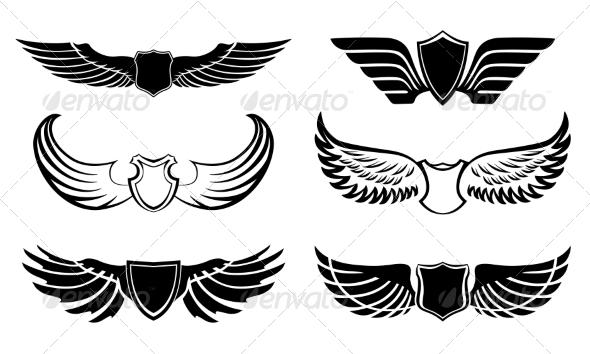 Wings - Web Elements Vectors