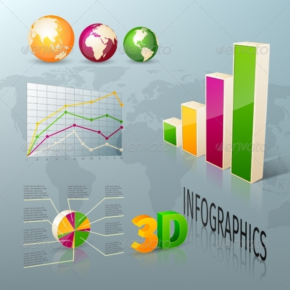 Business Graphics - Web Elements Vectors