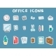 Business Office Sticker Icons Set - GraphicRiver Item for Sale