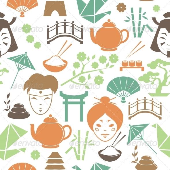 Japanese Pattern - Backgrounds Decorative