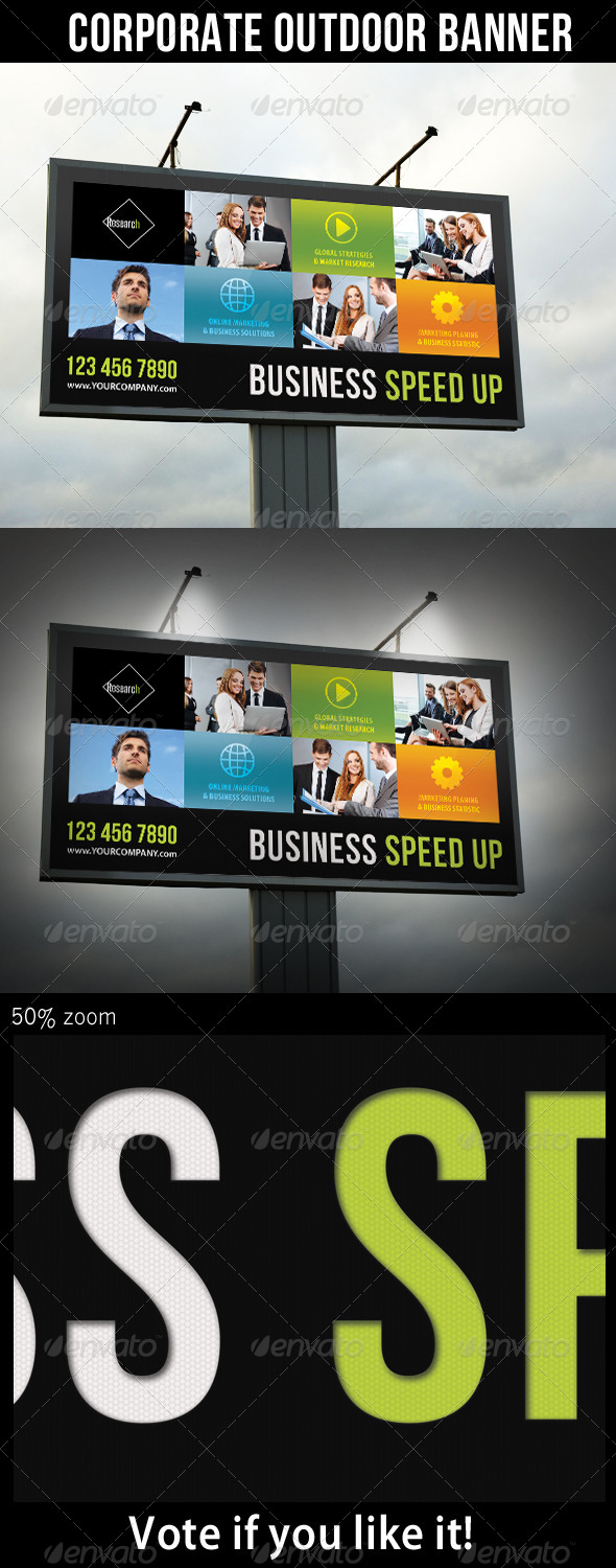 Corporate Outdoor Banner 29 - Signage Print Templates