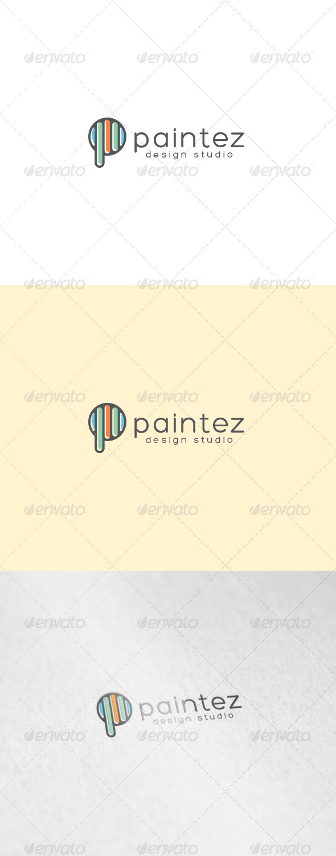Paintez Logo - Letters Logo Templates