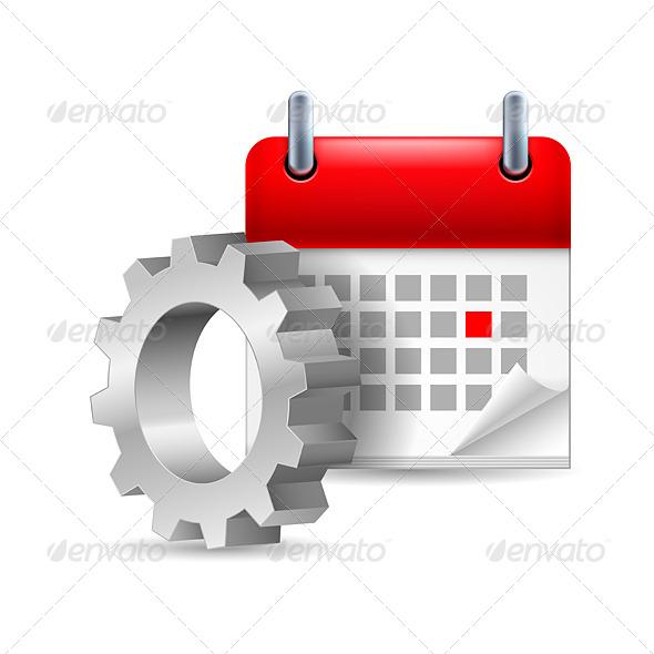 Gear Wheel and Calendar - Miscellaneous Vectors