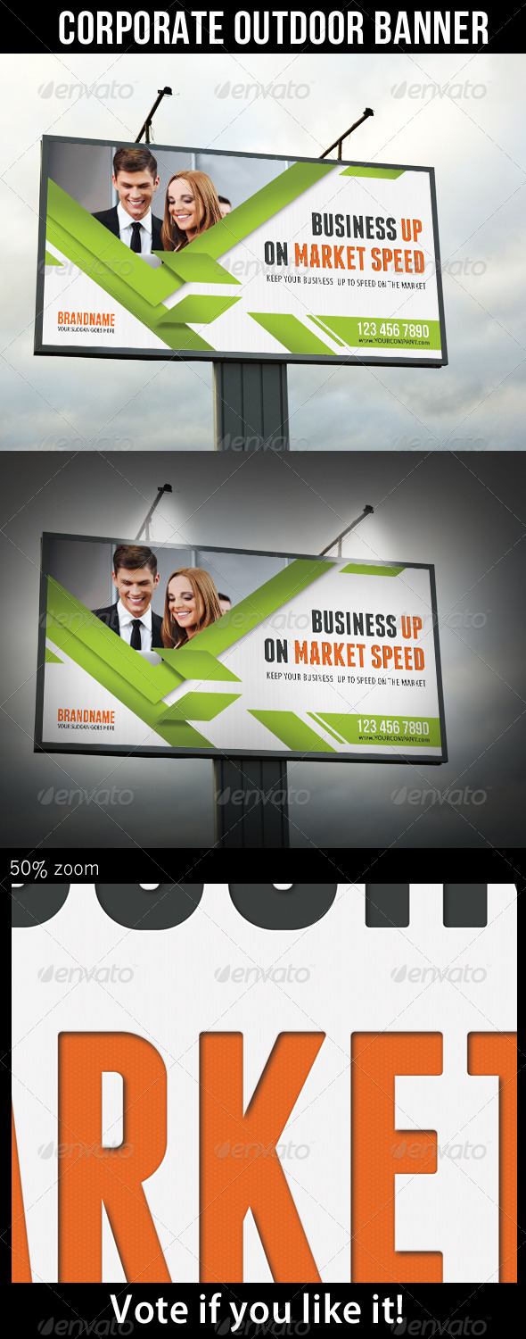 Corporate Outdoor Banner 30 - Signage Print Templates