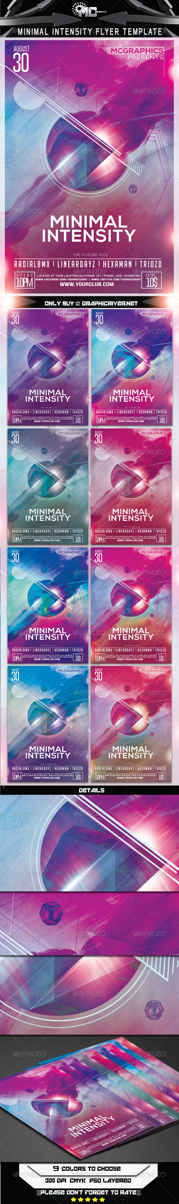 Minimal Intensity Flyer Template - Events Flyers
