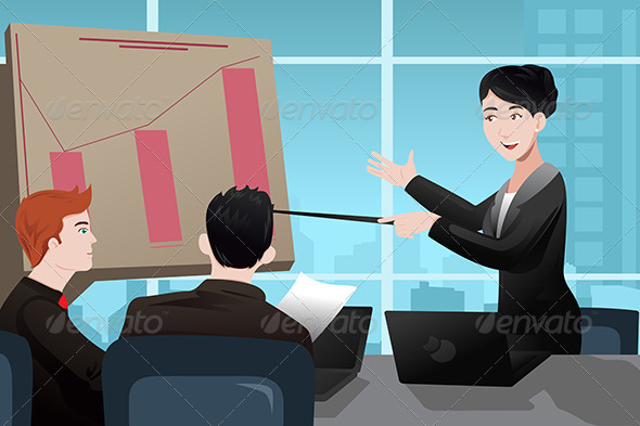 Businesswoman Making a Presentation - Business Conceptual
