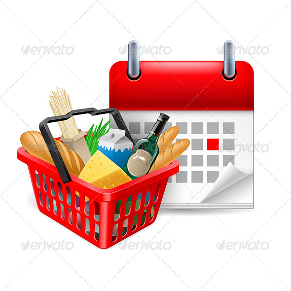 Food Basket and Calendar - Miscellaneous Vectors