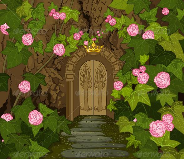Gates of Magic Elves Castle  - Landscapes Nature