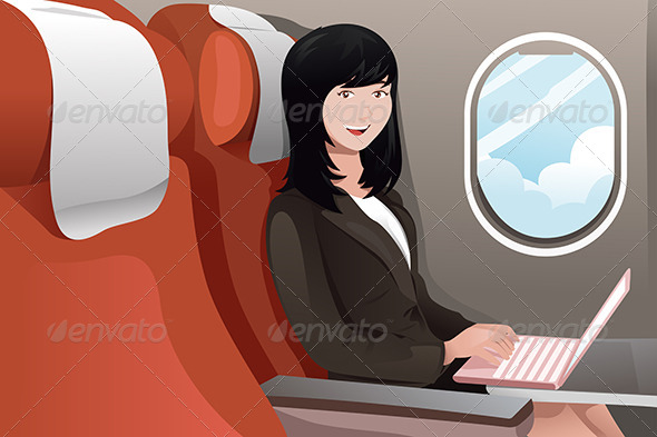 Businesswoman Working on her Laptop - Business Conceptual