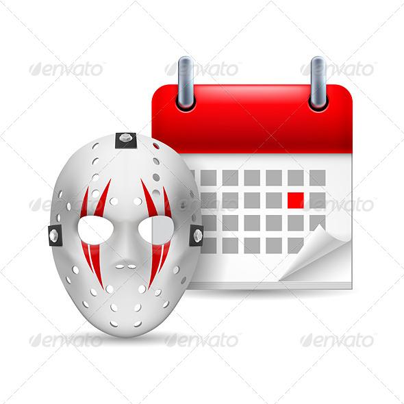 Hockey Mask and Calendar - Miscellaneous Vectors