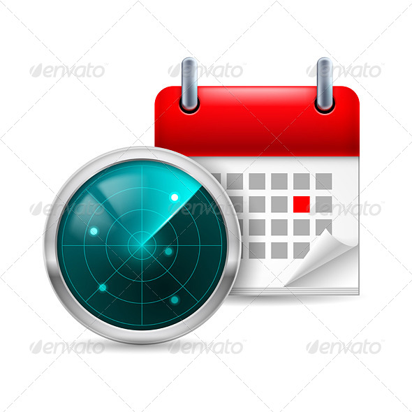 Radar Screen and Calendar - Miscellaneous Vectors