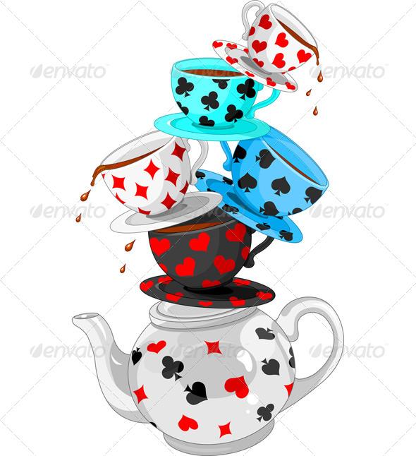 Wonder Tea Party Pyramid - Objects Vectors