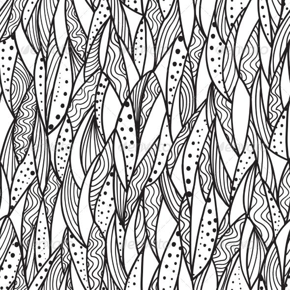 Seamless Monochrome Pattern - Backgrounds Decorative