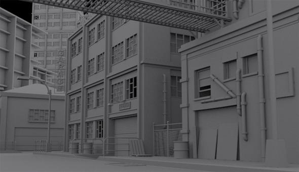 The Street - Exterior Model - 3DOcean Item for Sale