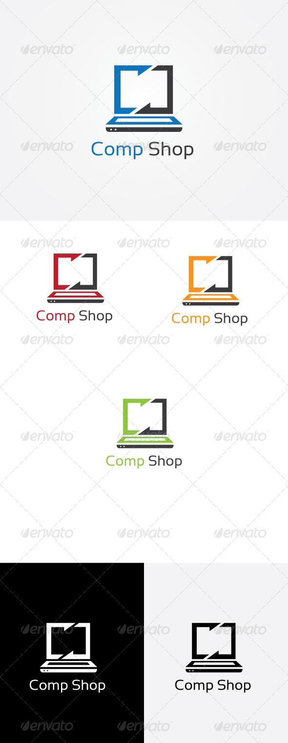 Computer Shopee - Symbols Logo Templates