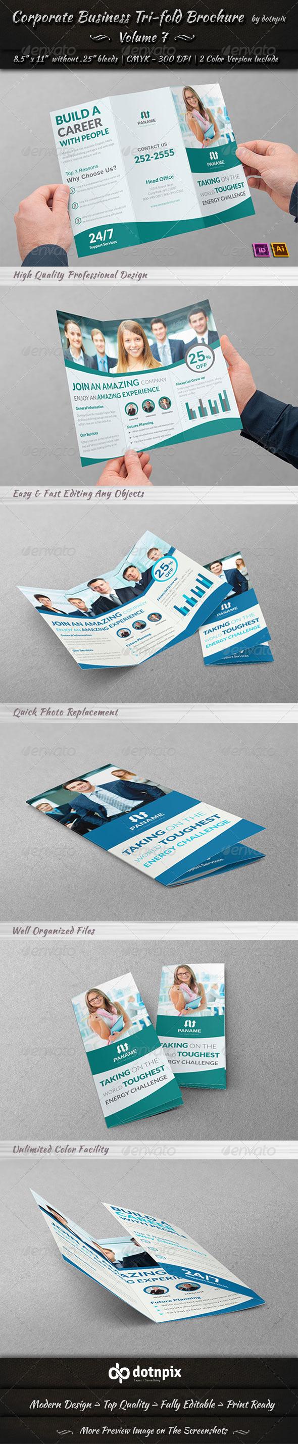 Corporate Business Tri-Fold Brochure | Volume 7 - Corporate Brochures