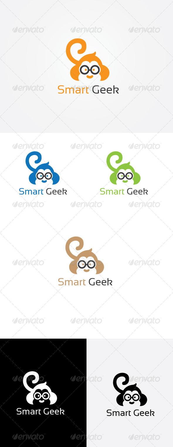 Smart Monkey Logo - Animals Logo Templates