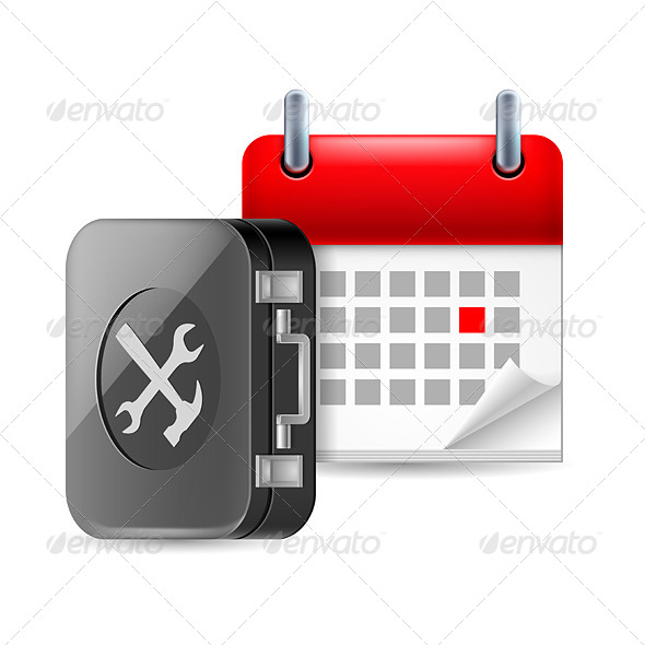 Repair and Time Icon - Miscellaneous Vectors