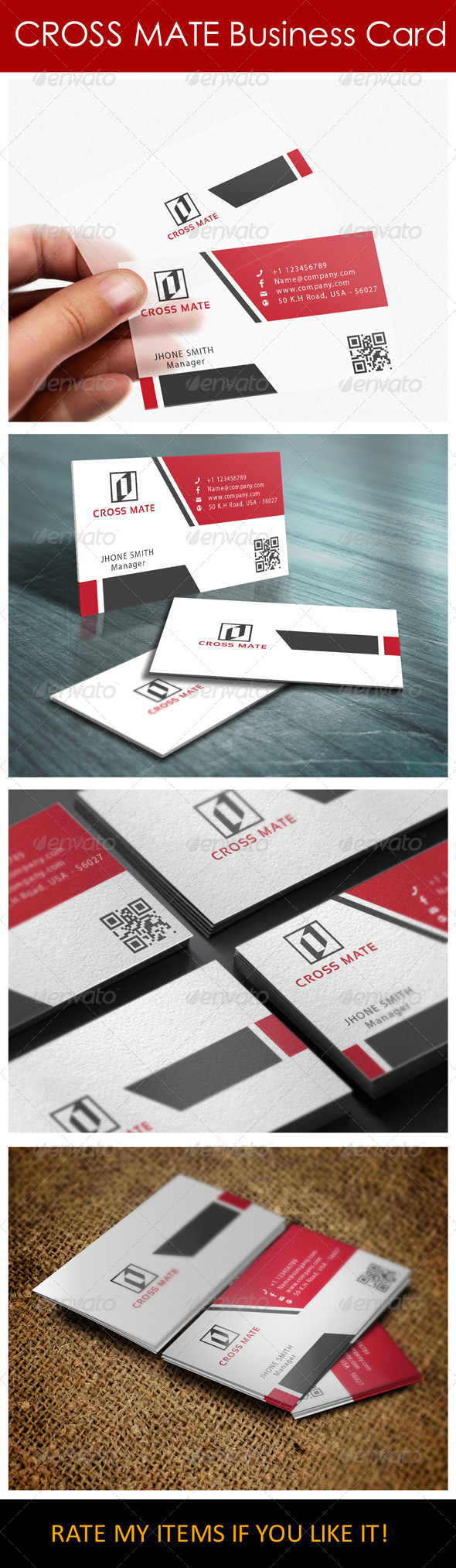 Clean Simple Business Card - Corporate Business Cards