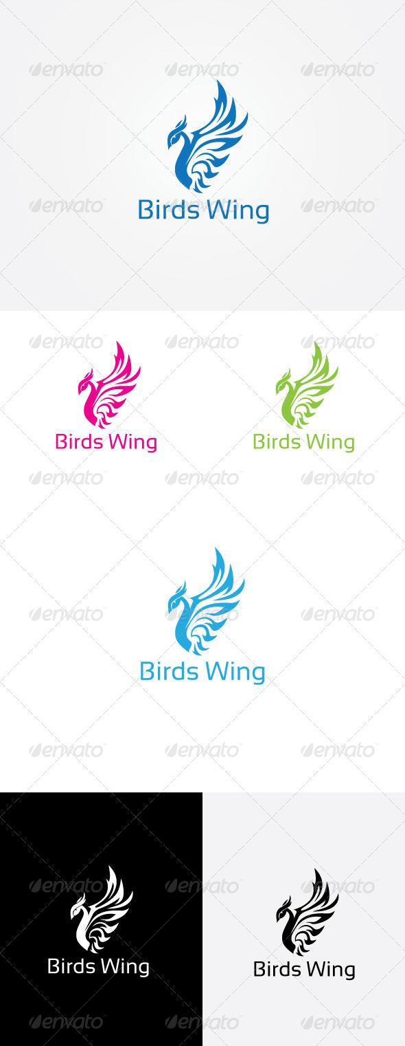 Bird Wing Logo - Vector Abstract