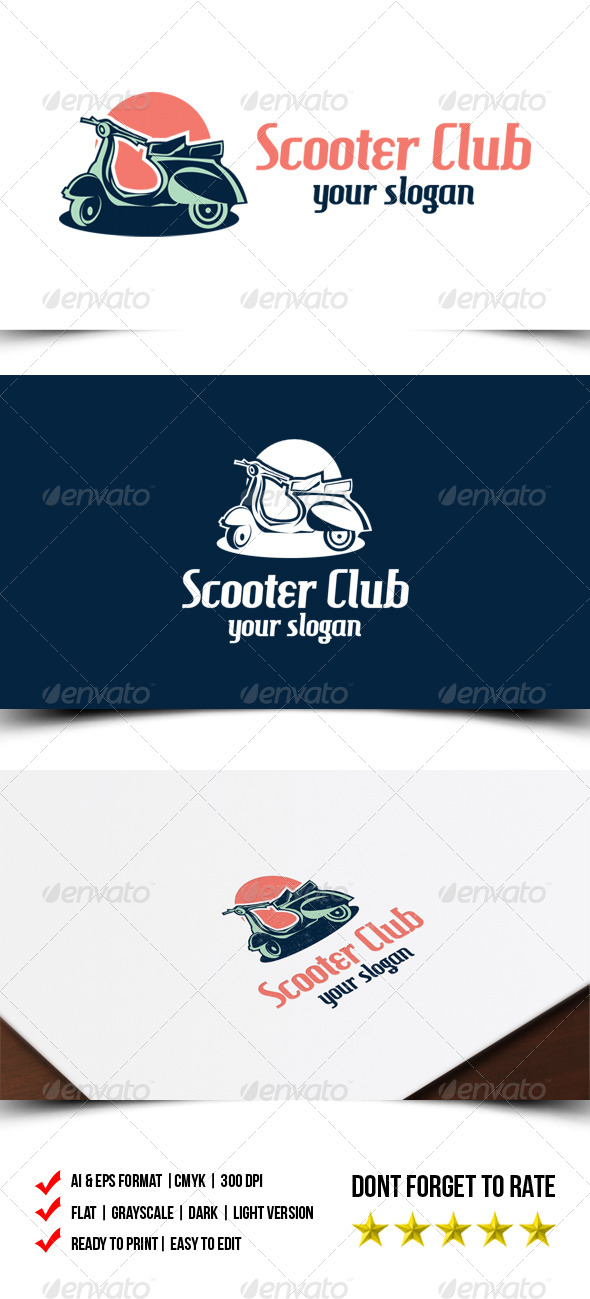 Scooter Club Logo - Objects Logo Templates