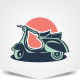 Scooter Club Logo - GraphicRiver Item for Sale