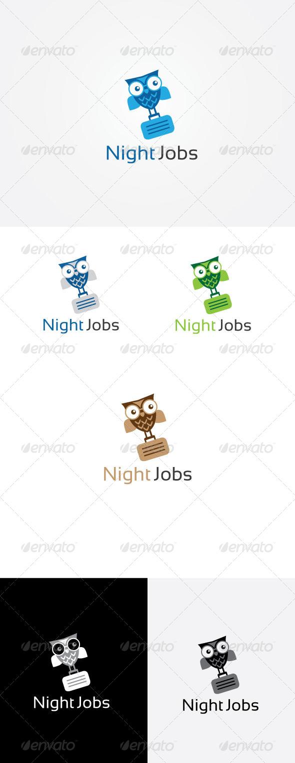 Night Jobs Logo - Animals Logo Templates