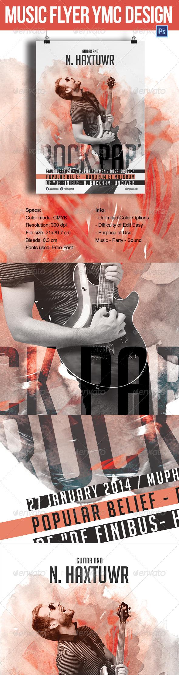 Music Flyer YMC Design - Concerts Events