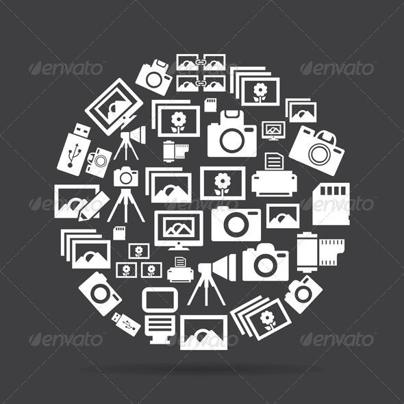 Photo Circle - Retro Technology