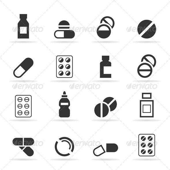 Tablet an Icon - Health/Medicine Conceptual